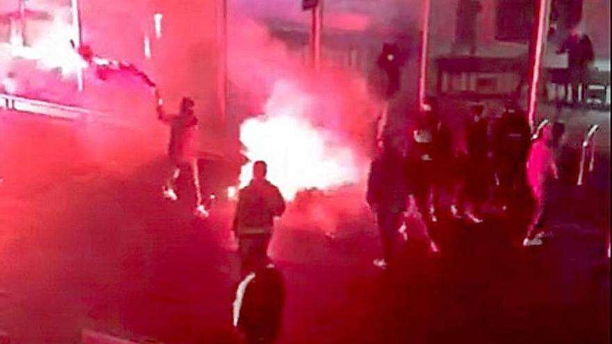 Los disturbios en León y su alfoz se saldan con un detenido y dieciséis identificados