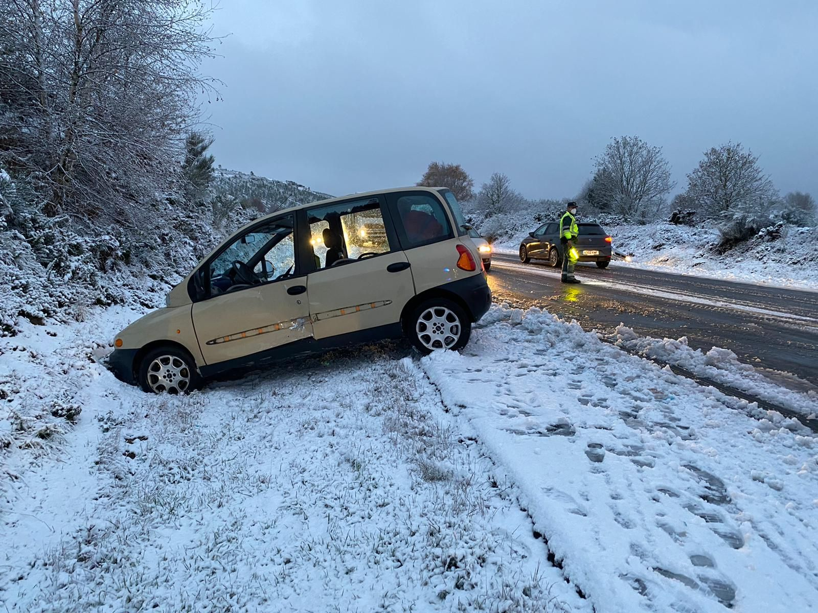 La borrasca Dora en Galicia: las fotos de un temporal de nieve y frío