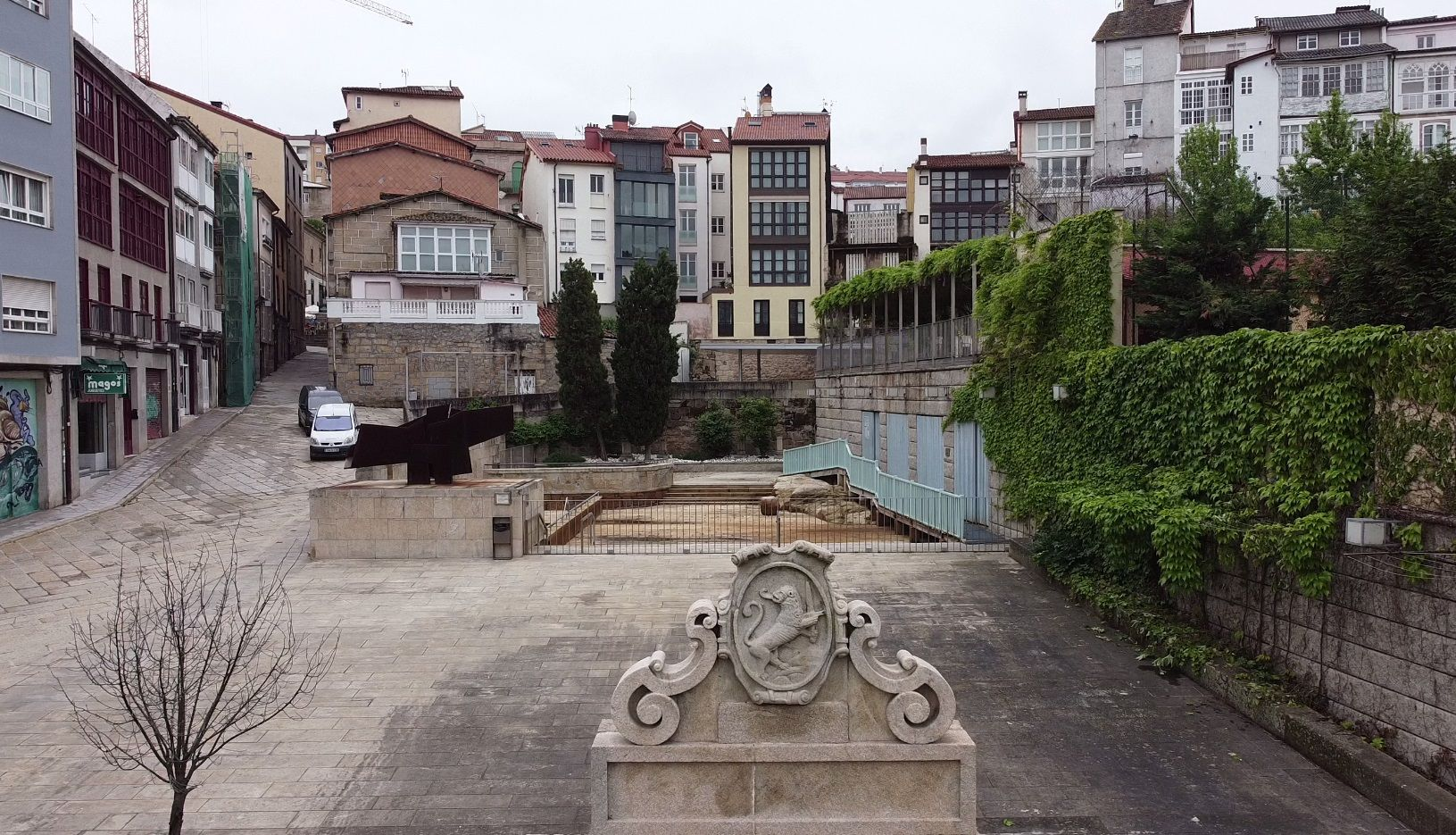 El Casco Viejo de Ourense languidece a vista de pájaro