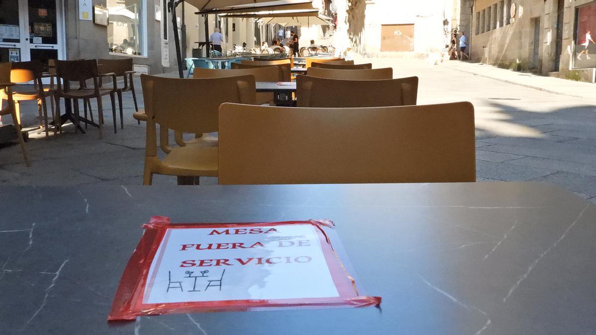 Terrazas con limitaciones en Ourense