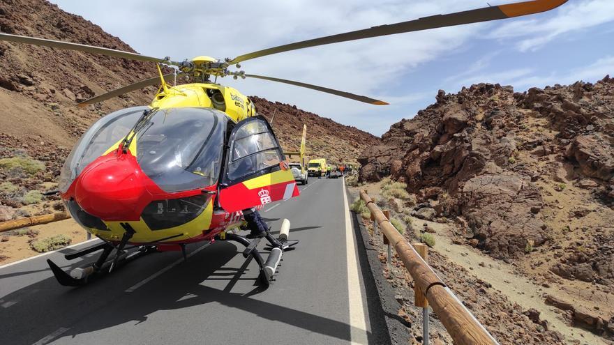 Un motorista muere al sufrir una caída en Las Cañadas del Teide