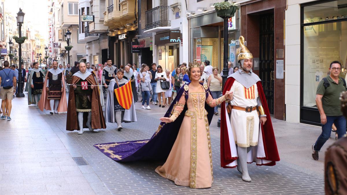 Desfile de la Germandat dels Cavallers de la Conquesta, en septiembre del 2019.