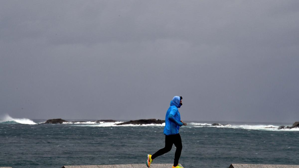 Día gris en A Coruña.