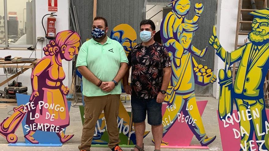 Esculturas urbanas en Buñol