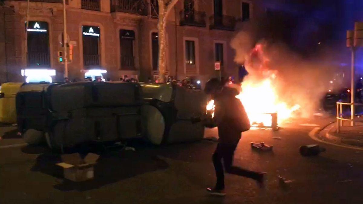 Encarcelado uno de los detenidos en Barcelona en los disturbios por Hasél