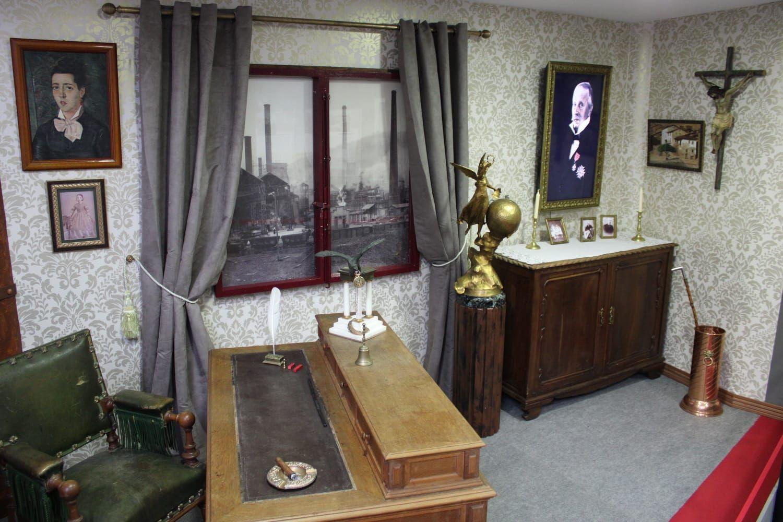 Una de las estancias del Museo de la Siderurgia