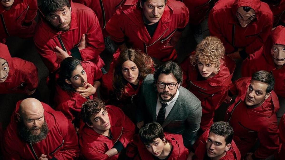 El reparto de 'La Casa de Papel', de Netflix.