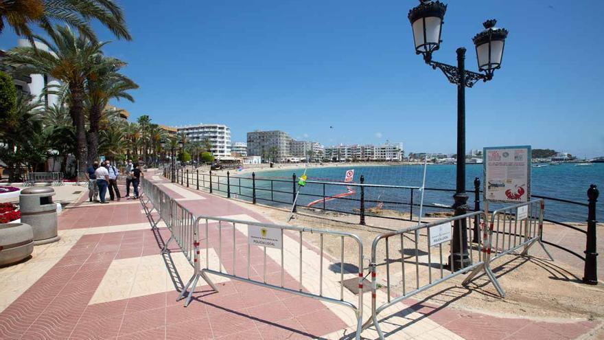 El paseo marítimo de Santa Eulària estará arreglado en julio