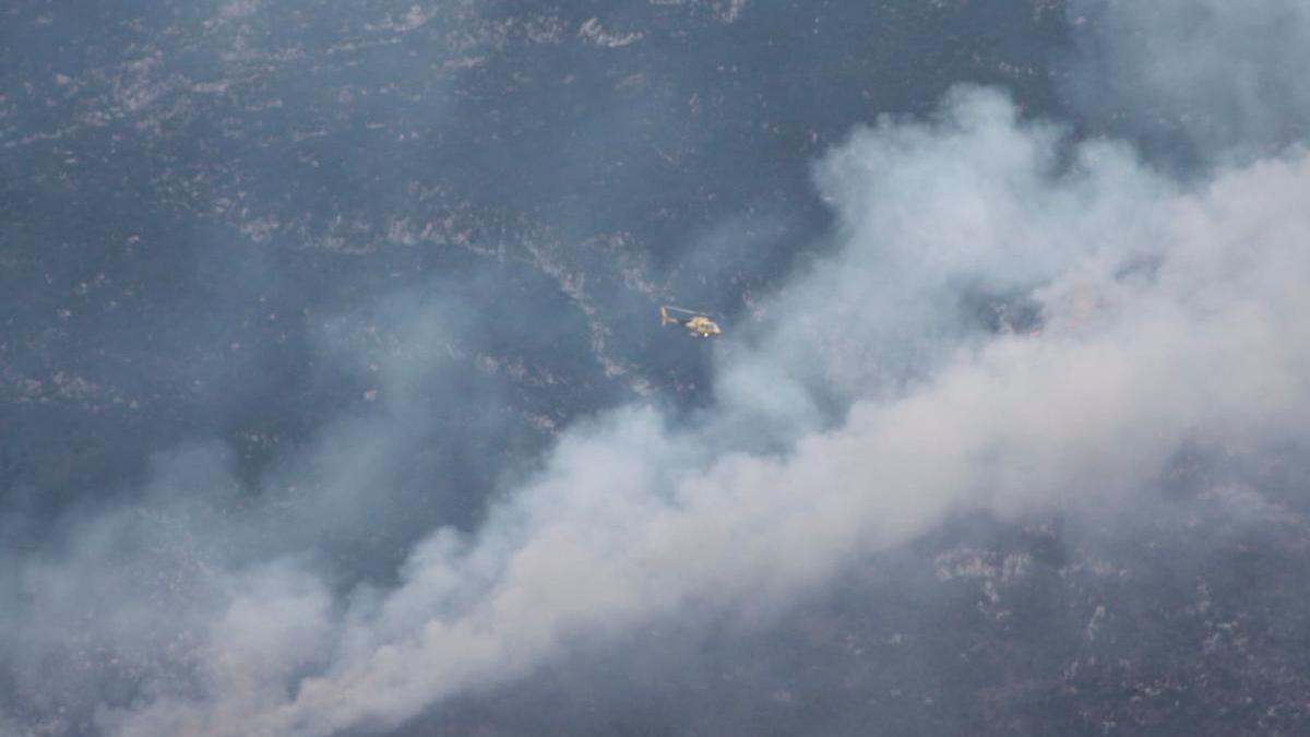 Incendio en la Sierra del Cuera en pasado marzo.