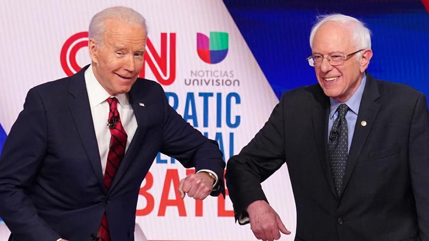 Bernie Sanders respalda la candidatura de Joe Biden