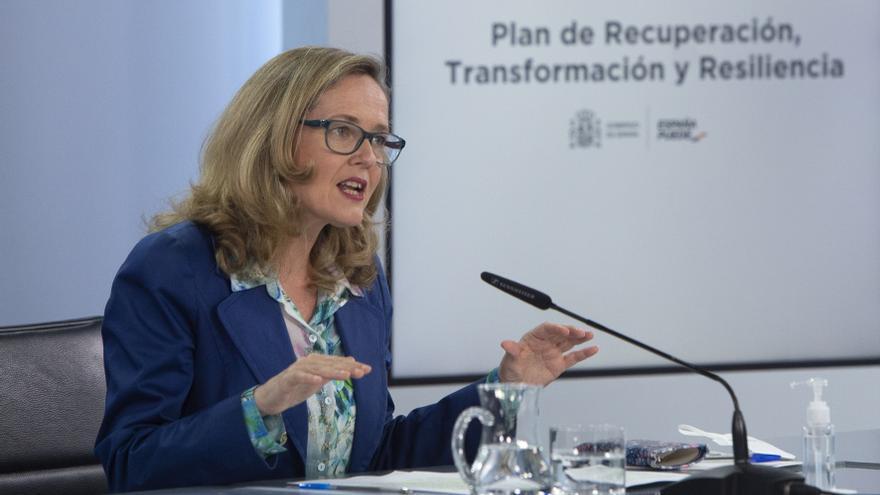 """Calviño prevé el primer pago de los fondos europeos """"antes de septiembre"""""""
