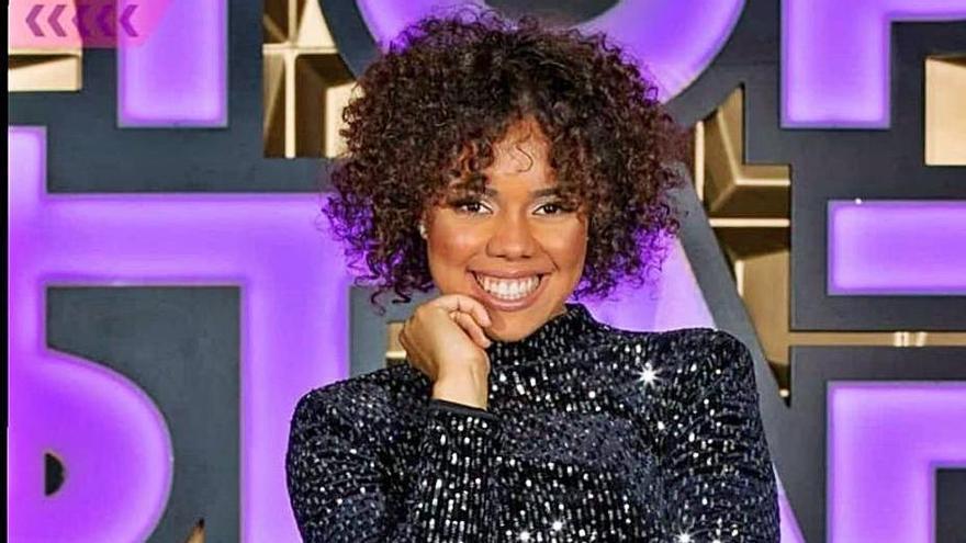 Sislena Caparrosa, en el programa 'Top Star', de Telecinco. | | EL DÍA
