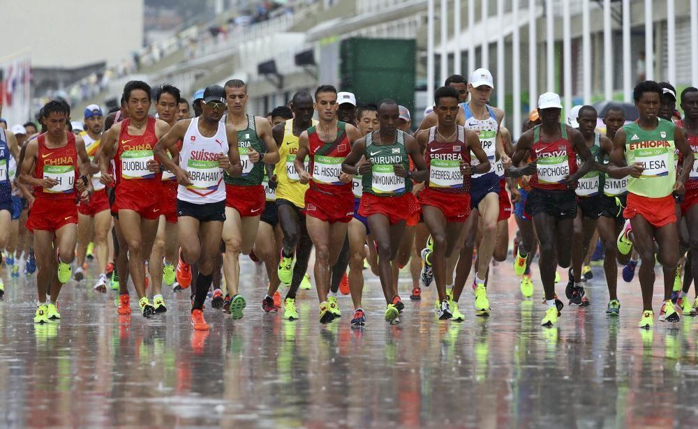 Final de la maratón masculina.