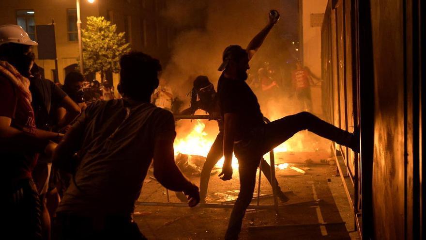 Protestas en Beirut por segundo día consecutivo