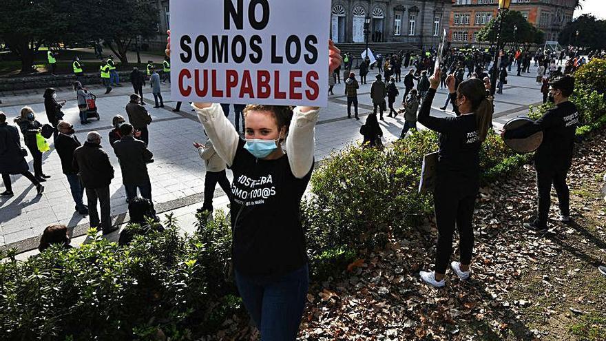 """Hosteleros se movilizan ante """"la pasividad de la Xunta"""" y para exigir indemnizaciones"""