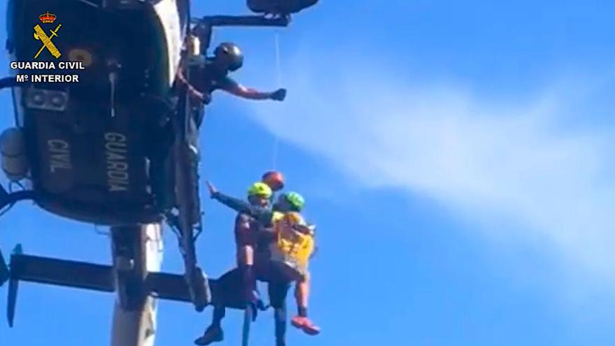 La Guardia Civil rescata a un joven tras romperse un tobillo en una carrera de montaña en Escorca