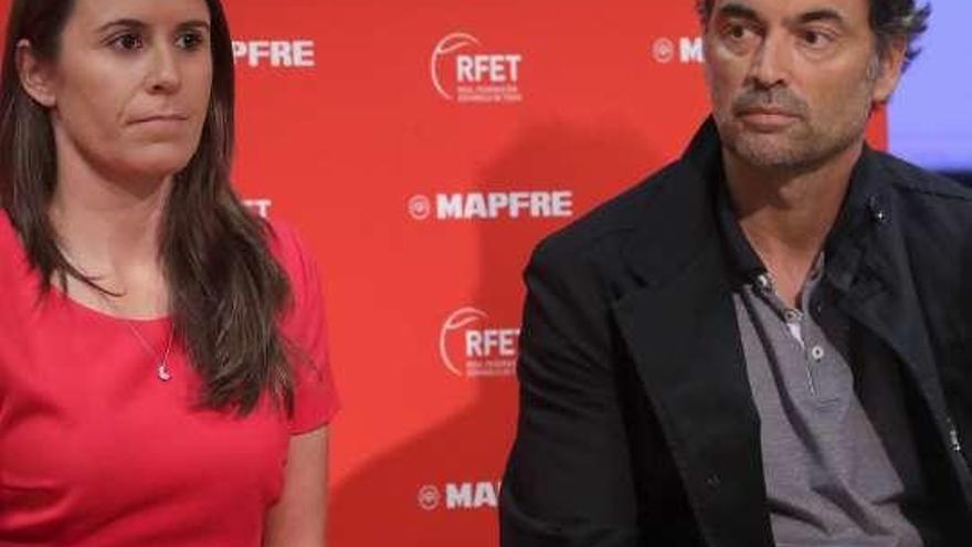 Anabel Medina y Sergi Bruguera, orgullosos de estar al frente de la Copa Federación y la Davis