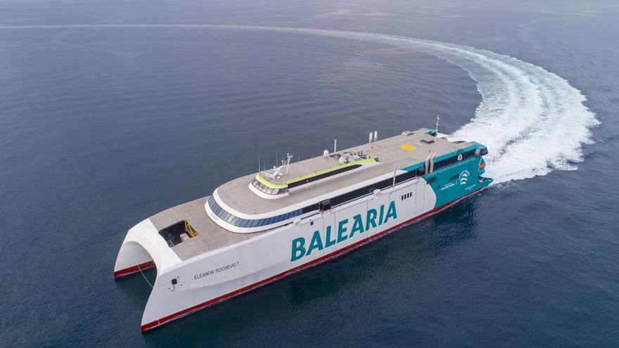 Primera prueba de mar del nuevo buque insignia de Baleària