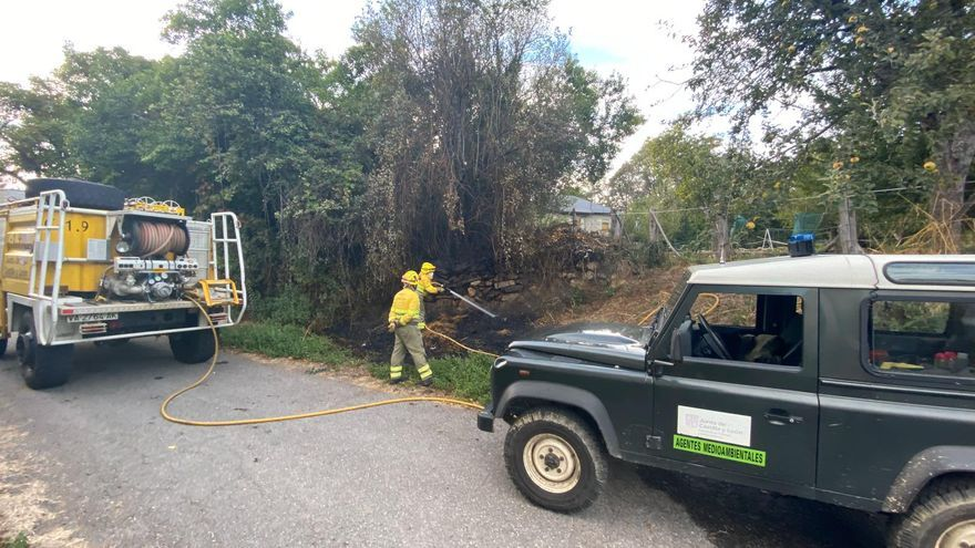 Extinguidos en Sanabria dos incendios intencionados