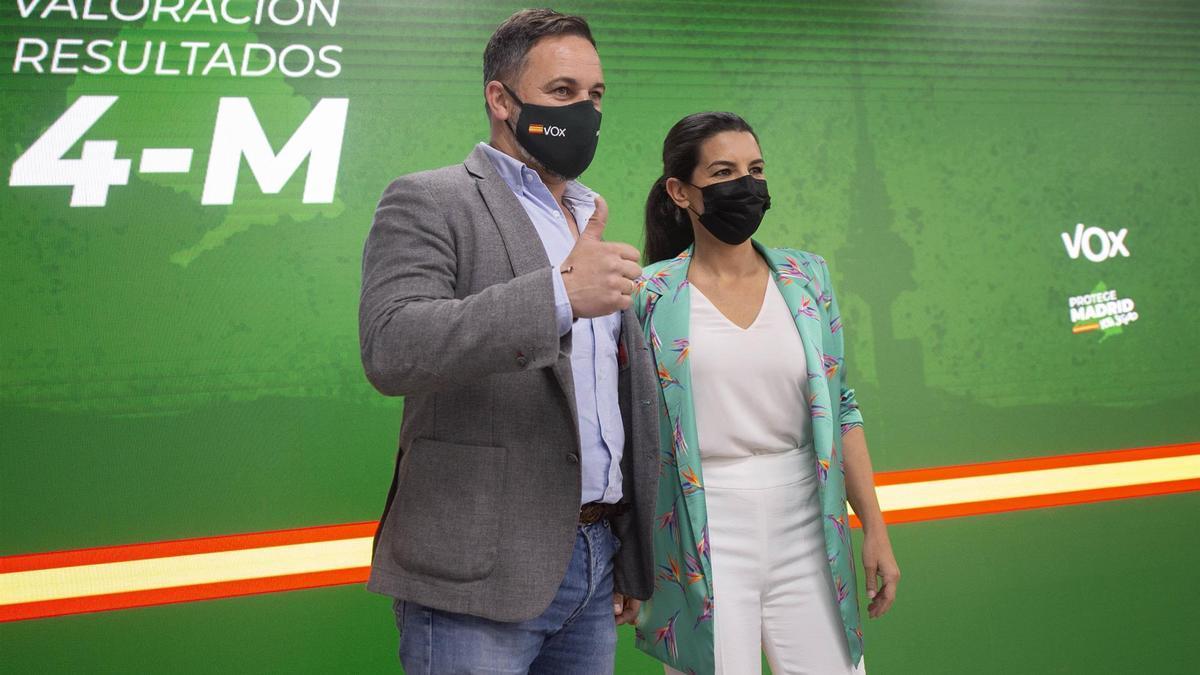 Santiago Abascal y Rocío Monasterio