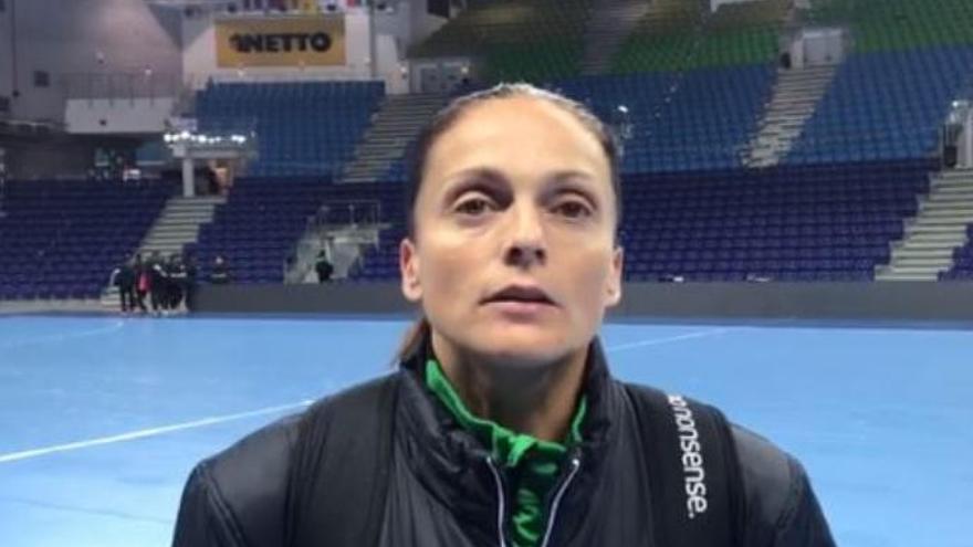Silvia Navarro, portera del Rocasa, en exclusiva para La Provincia