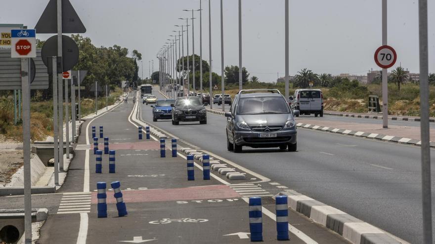 La futura carretera de Santa Pola, velocidad limitada a 70km/h
