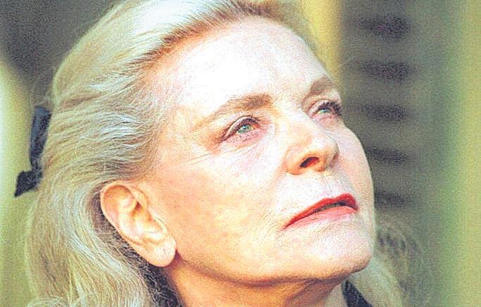 Lauren Bacall, cuando rodó 'El celo'.