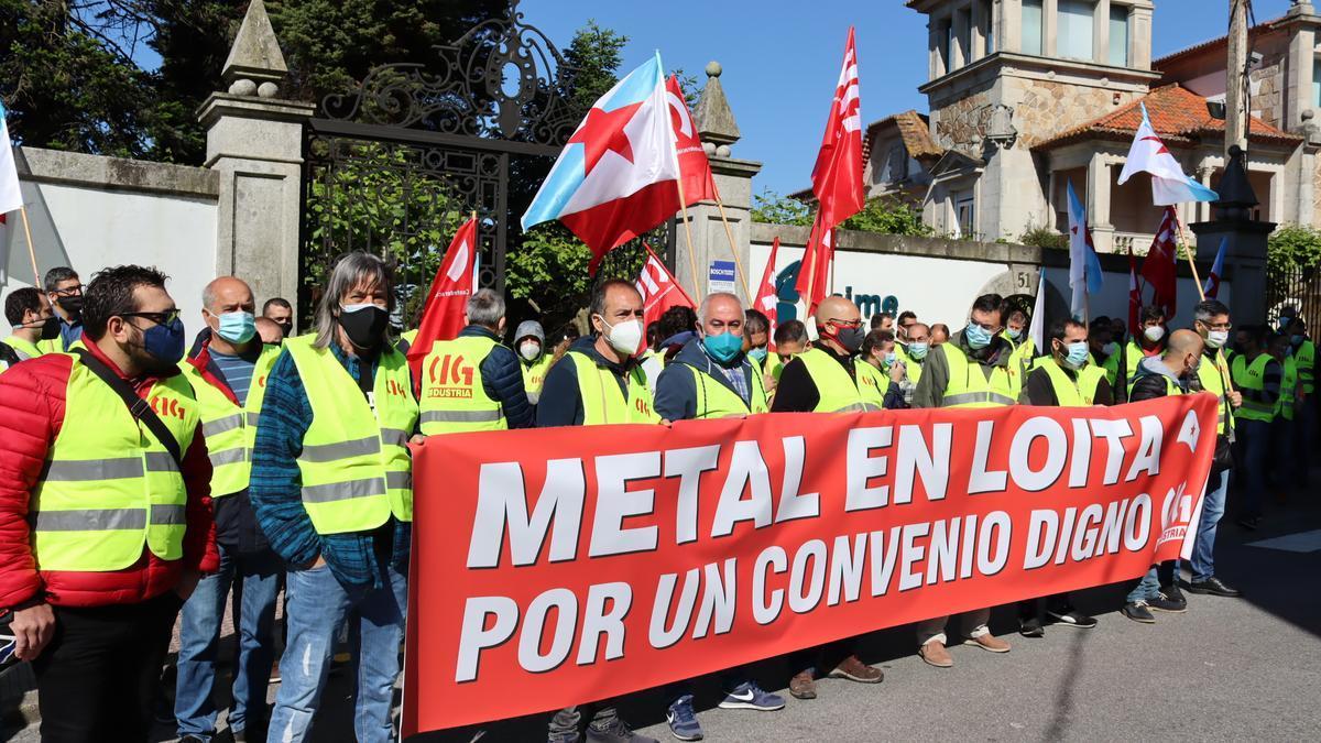 Protesta de delegados de la CIG