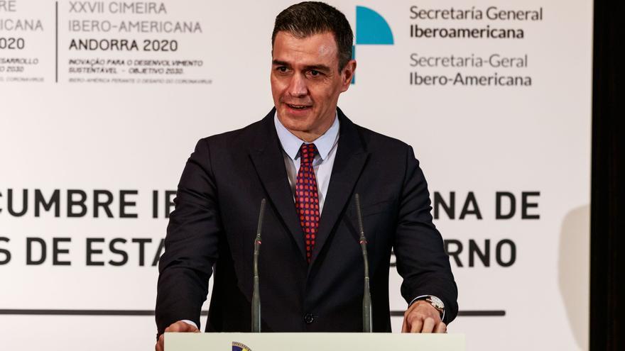 """Sánchez: """"Tras un año de cooperación global contra la covid, hay esperanza"""""""