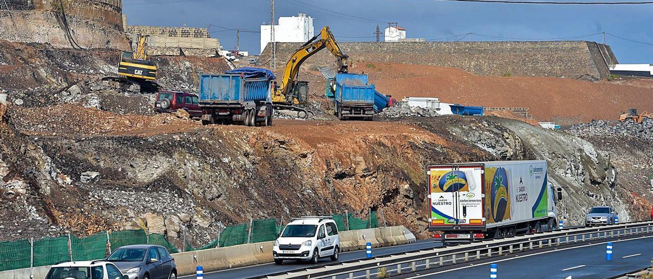 Obras de la cuarta fase de la circunvalación en el municipio de Arucas.