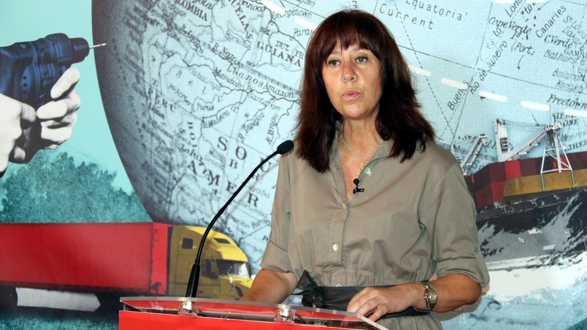 L'alcaldessa de Girona, Marta Madrenas, aquest 29 de juny del 2021 durant la conferència a la Cambra de Comerç (Horitzontal)