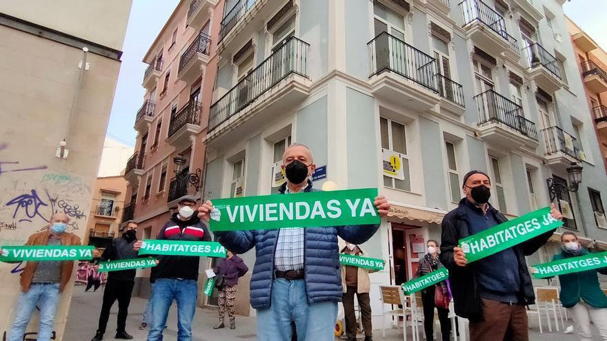 Protesta en València contra la gentrificación en Velluters