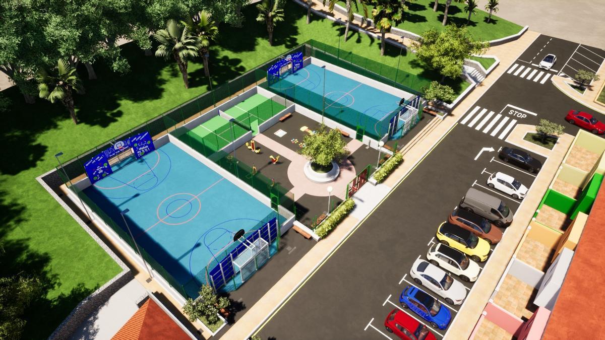 Nuevo parque deportivo de La Orotava