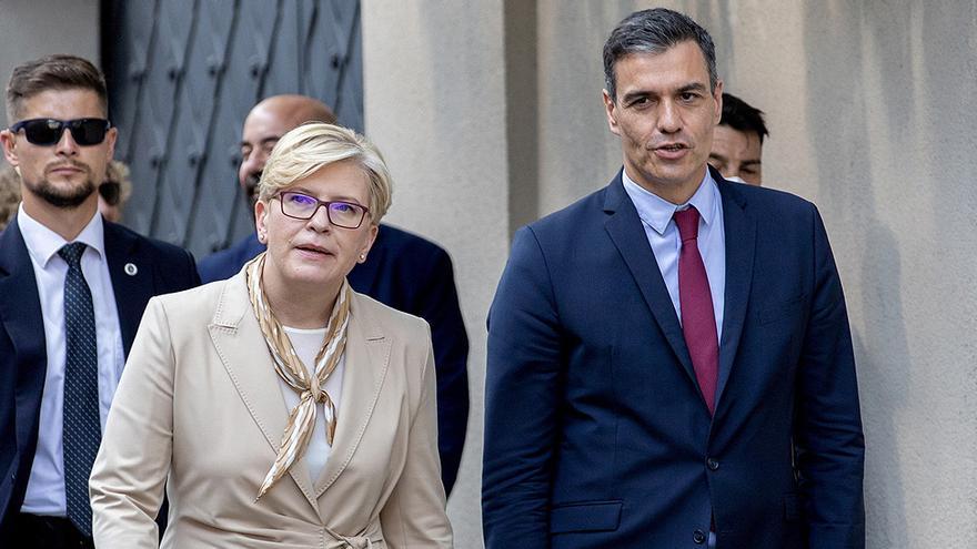 Sánchez ofrece apoyo a los bálticos en su tensión con Rusia y busca su respaldo en la frontera sur