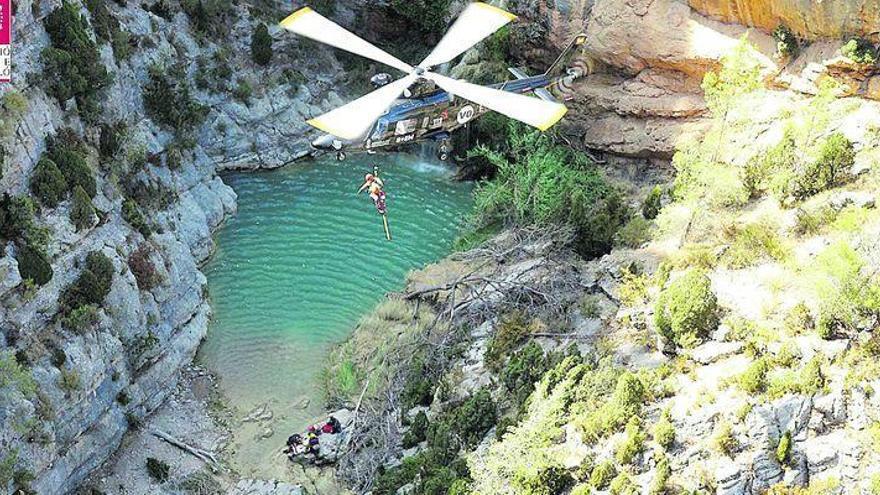 Un agosto atípico en Castellón por la cantidad de rescates en la montaña
