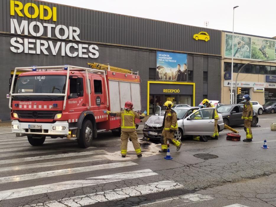 Accident a la carretera de Vic de Manresa