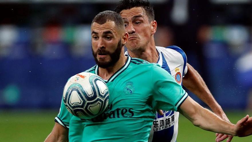 Benzema fa més líder el Madrid i enfonsa una mica més l'Espanyol (0-1)