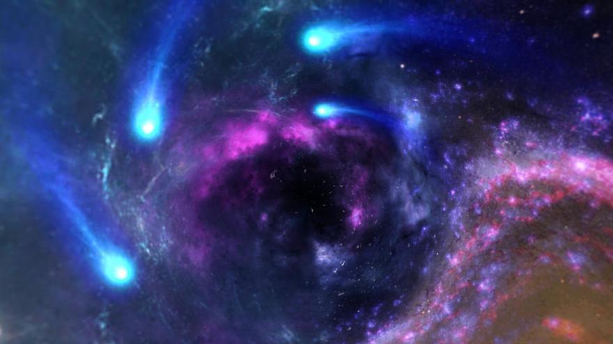 Una supernova a 65 años luz, ligada a una extinción masiva en la Tierra