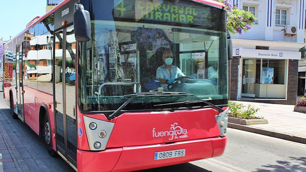 Un autobús de transporte urbano de Fuengirola.