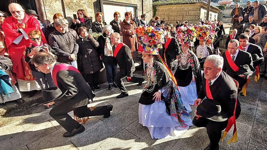La danza de Aldán solo se realizará con las venias al santo debido al COVID
