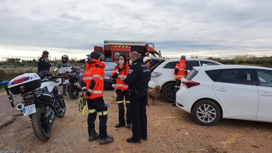 Operativo de búsqueda de un hombre desaparecido en Aldaia