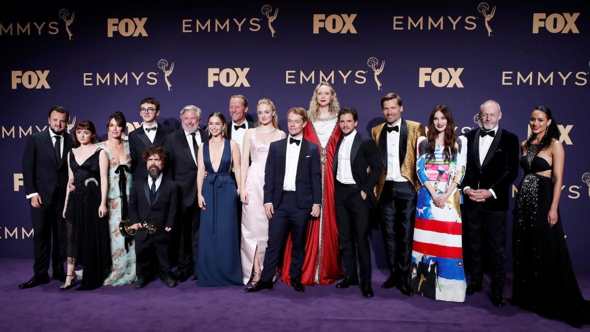 El reparto de 'Juego de Tronos' en la edición de 2019 de los Premios Emmy