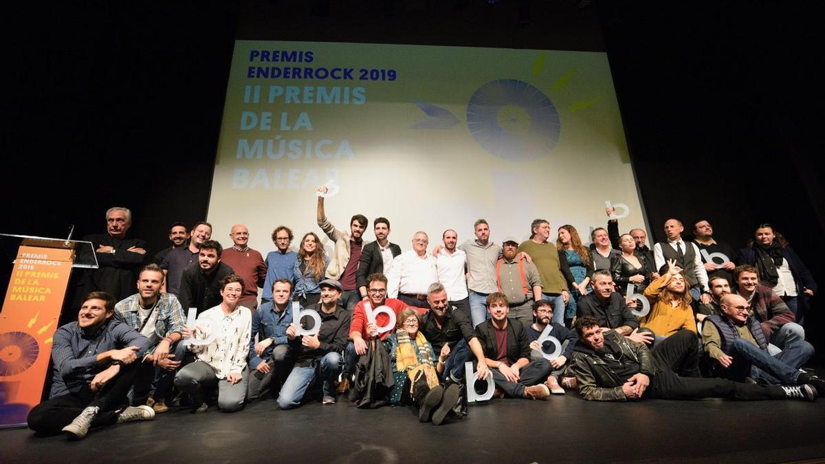Ganadores de la pasada edición de los Premis Enderrock