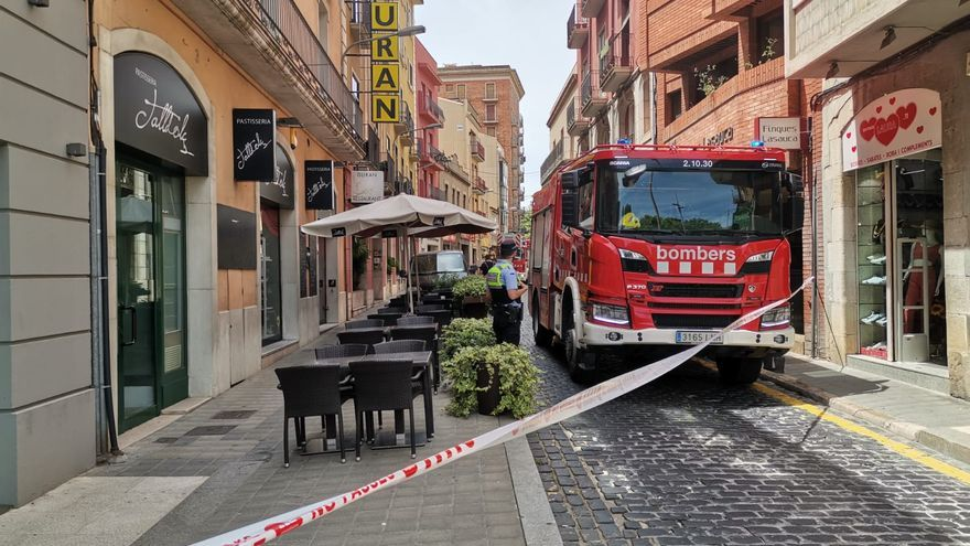 Ensurt a l'Hotel Duran de Figueres per un petit incendi