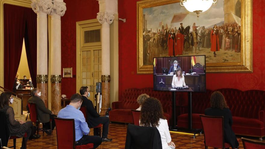 Discurso de Armengol: Aplausos de patronal y sindicatos   y críticas de los ecologistas