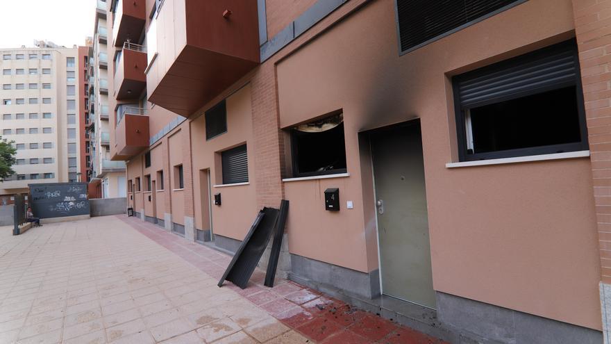 Alarma por un incendio en un edificio de seis plantas de Murcia