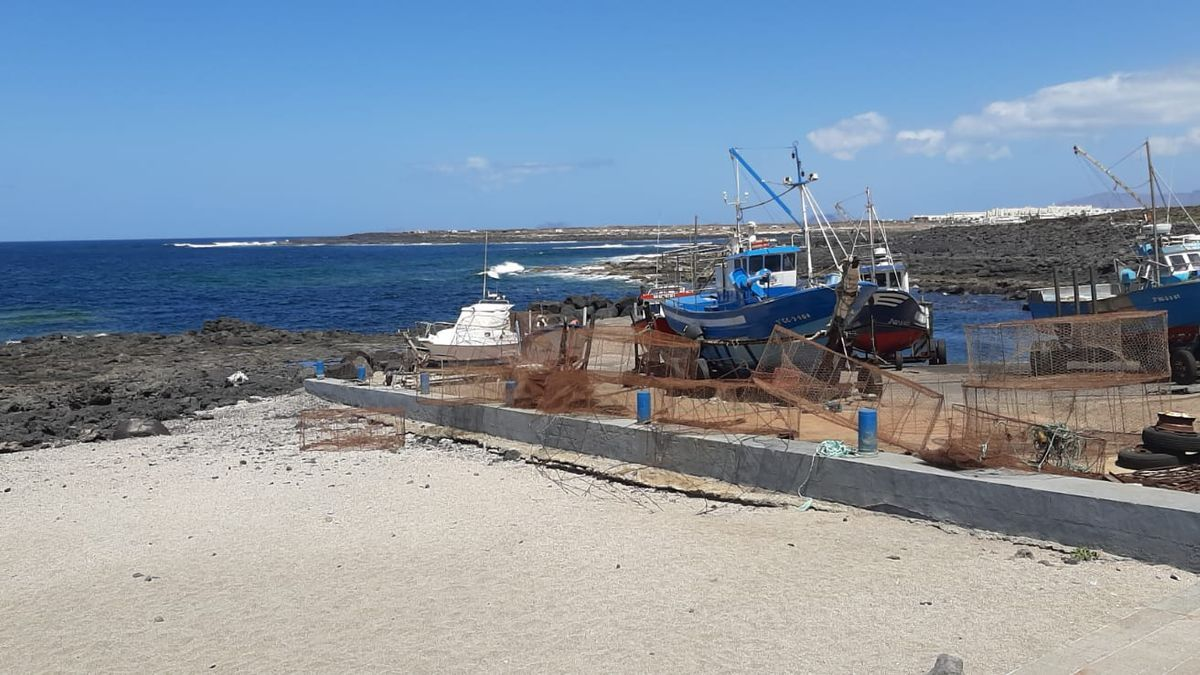 Varadero de La Santa (Tinajo), en el oeste de Lanzarote, en una imagen realizada hoy domingo.