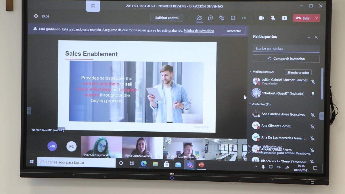 Norbert Bessems presentó la herramienta «Sales Enablement».