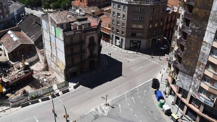 La futura rotonda de la Bonavista genera un nou paisatge a Manresa