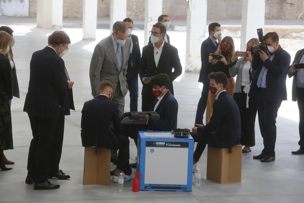 La visita del Rey Felipe VI a Las Cigarreras en Alicante